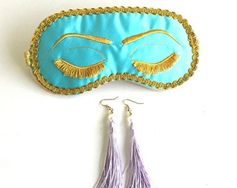 Breakfast at Tiffanys Sleep Mask Holly Golightly Sleep Mask Audrey Hepburn Bachelorette Party Mask.