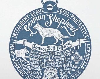 German Shepherd Dog Print