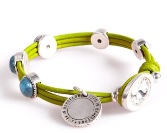 ART11 Green and Turquoise Bracelet