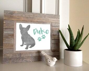 Watercolor Pet Art Prints - Choose a breed and a name - Custom 8x10 Pet Art