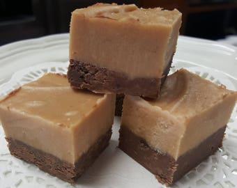 PEANUT BUTTER CHOCOLATE Fudge Gourmet Candy Fudge 1/2 pound