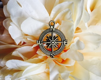 Compass Charm Add On/Charleston Map Necklace