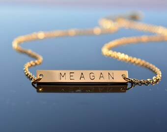 Personalized necklace, Initials necklace, Gold Bar Necklace, Custom initial, Initial necklace, Personaized bar necklace, mother gift