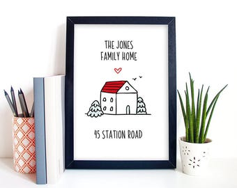 Personalized Family Home Print  | House Warming Gift | New Home Prints  | Wall Art | Home Decor | Wall Decor |  Family Printable