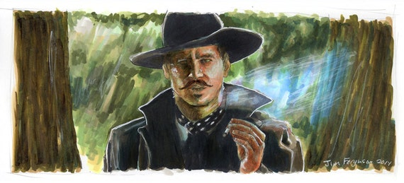 Tombstone - I'm Your Huckleberry   Poster Print