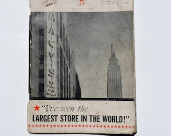 I seen the Largest Store In The World, Paperback Book, Macys, 1939, Vintage Book, Book on Macys