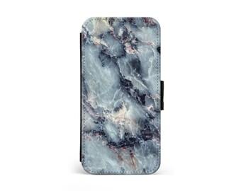 Electric Blue Marble Wallet Flip Case, Marble Case, Marble Print, iPhone Case, Samsung Case, iPhone Cover, iPhone Wallet \ lf-pp044