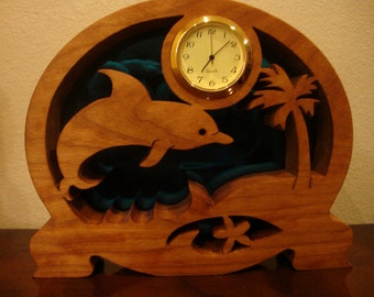 Handmade Cherry Leaping Dolphin Clock Gift Under 50