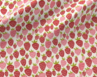 Summer Pink and Red Strawberry Fabric - Strawberry Fun By Stacyiesthsu - Strawberriers Summer Kid Cotton Fabric By The Yard With Spoonflower