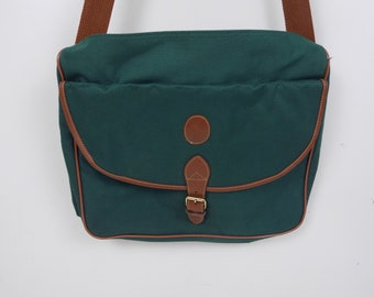 Vintage Polo Ralph Lauren Green Messenger Travel Briefcase Bag Tote