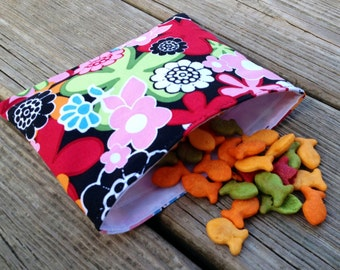 Design your own Reusable Snack Bags- set of 3 reusable snack bags
