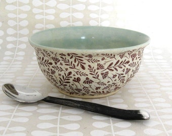 Ceramic Bowl - Cereal Bowl - Serving Bowl - Hand Thrown Bowl - Stoneware Bowl - Ready to Ship