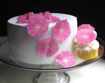 The Original EDIBLE Gerbera Daisies - Pink - Cake & Cupcake toppers - Food Decoration