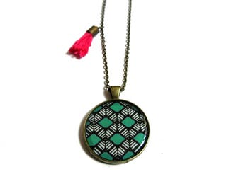 TURQUOISE NECKLACE - turquoise jewelry - blue green necklace - boho chic jewelry - boho chic necklace - copper turquoise jewelry - Ethnic
