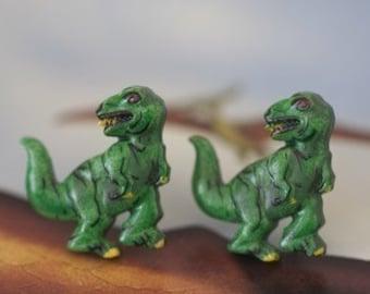 T-Rex Dinosaur Stud Post Earrings