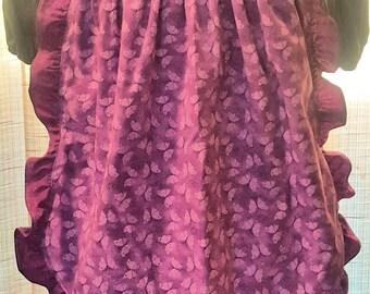 Apron - Skirt - Purple Butterflies