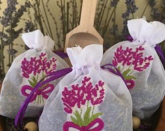 Lavender Sachet (Embroidered)