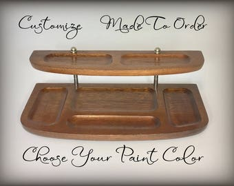 Wood Valet, Custom Hand Painted Organizer Tray, Choose Color, Personalized  Valet, Custom Desk Tray for Men, Catch All Tray Charging Station