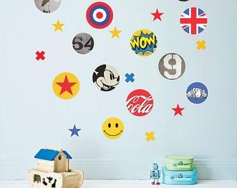 Pop Art Wall Stickers (fabric decals, not vinyl)