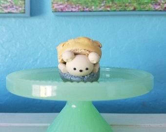 Blueberry Pie Bear Macaron
