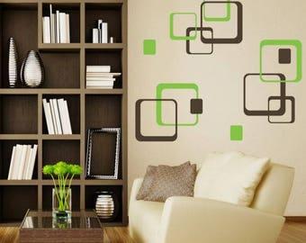 Wall sticker - Squares (2657n)