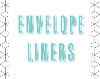 Envelope Liners for Invitations - 10/Pack