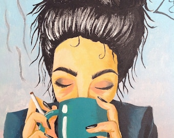 "Painting woman face ""bad morning?"""
