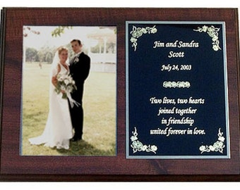 Personalized Wedding or Anniversary Plaque - Wonderful Gift