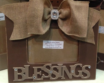 BLESSINGS 5x7 Shabby Frame in Chocolate