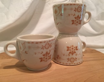 Vintage Sterling China STR91 Mugs