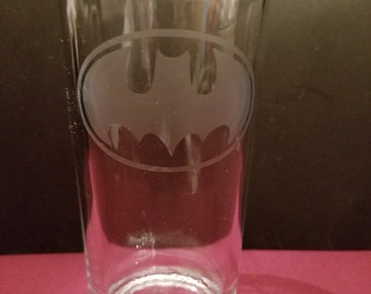 Batman Etched Pint Glass