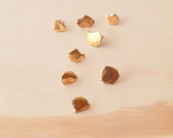 Aïta, porcelain and gold earrings, glazed .Porcelain jewelry