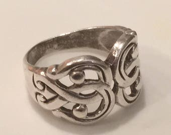 Sterling Silver Celtic Knot Ring ~ 925