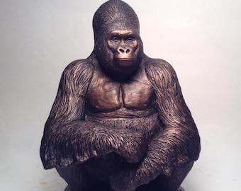 Gorilla sculpture Charles statue figurine