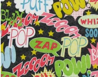 """Printed Felt Rectangle: Shazam (9""""x12"""")"""