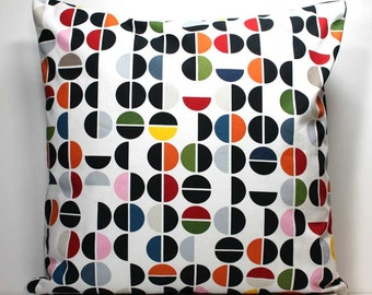 SALE - 18 X 18 Inch Decorative Throw Pillow Cover - Colorful Dots Ikea Fabric Pillow Cover with Invisible Zipper Closure