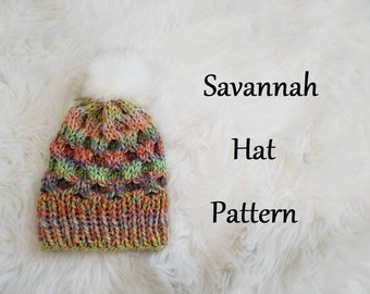Savannah Womens Hat Knitting Pattern