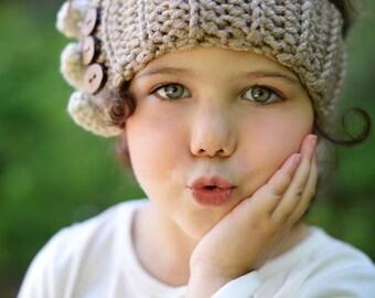 Children's Crochet Ear Warmers / Crochet Headband / Chunky Ear Warmers / Women's Crochet Headwrap / Boho Chic Earwarmers / Winter Fashion