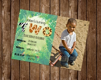 Zoo Birthday Party Invitation 5x7