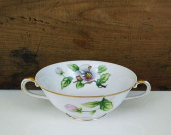 Dogwood Footed Cream Soup Bowl from Roselyn China