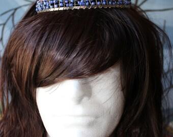 Blue/Purple Dipped Quartz Crystal Crown