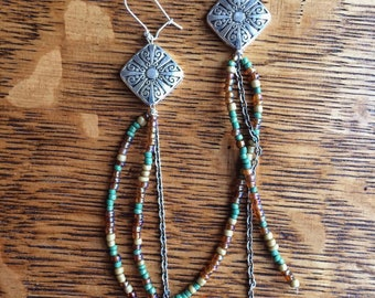 Gypsy beaded earrings