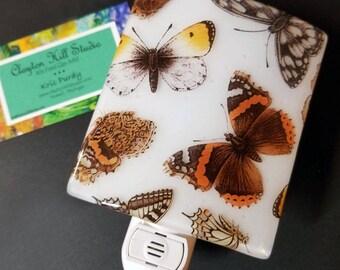 Fused Glass Night Light - Butterflies