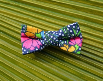 Liberty of London Modern Bow Alligator Clip // Bow Tie Alligator Clip - Cranston Stile Collection Pink & Navy