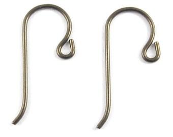 TierraCast Hypoallergenic Earwires-Bronze NIOBIUM with SMALL LOOP (10)