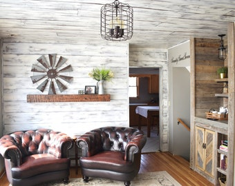 Shiplap -Distressed White/brown, Siding, Wood Siding, Interior shiplap, Feature Wall, Barn Siding, Wood Wall Art, Rustic Ship