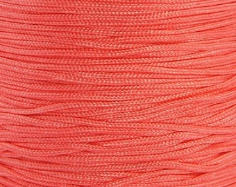 Nylon thread 0,8mm orange-pink 10m