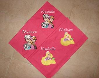 Personalized set of 4 napkins