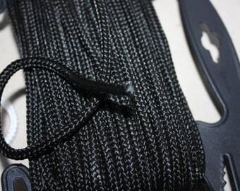 6 mm Braided Cord POLYESTER= 1 Spool= 27 Yards= 25 Meters Elegant Rope Black Decorative Rope Macrame Rope Macrame Cord Polyester Fabric Cord