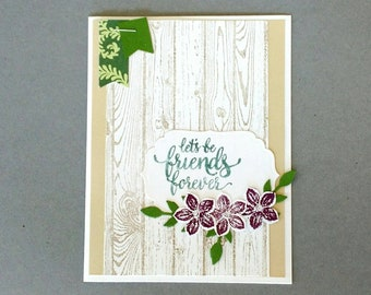 Friend card, just because card, thinking of you card, thank you card, appreciation card, Stampin up card, homemade card, Greeting Card